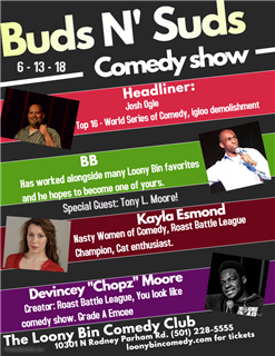 Buds and Suds Comedy Show