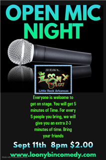 Open Mic Night Sept 11th