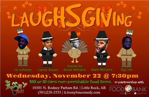 LAuGhsGiVInG! AR Foodbank Benefit